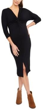 Jessica Simpson Maternity Twist-Front Dress