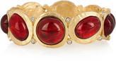Kenneth Jay Lane 22-karat gold-plated crystal bangle