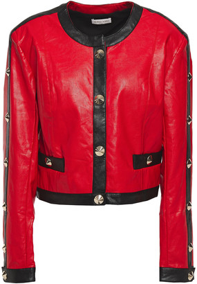 Ronny Kobo Studded Faux Leather Jacket