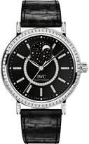 IWC IW459004 Portofino alligator-leather and diamond watch