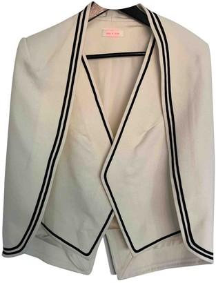 Sass & Bide Ecru Wool Jackets