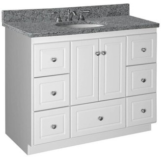 "Millwood Pines Lysette 42"" Single Bathroom Vanity Base Base Finish: Satin White"