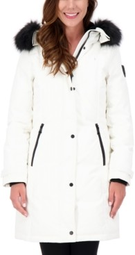 Vince Camuto Faux-Fur-Trim Hooded Parka, Created for Macy's