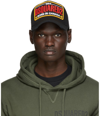 DSQUARED2 Black Embroidered Logo Baseball Cap