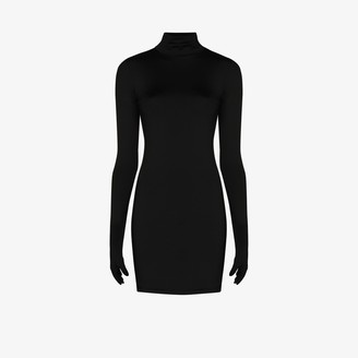 Vetements Gloved fitted mini dress