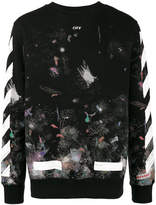 Off-White Galaxy brushed print sweatshirt