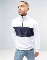 Ellesse Italia Half Zip Poly Sweatshirt