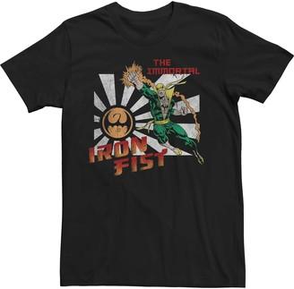 Iron Fist Men's Marvel Vintage Poster Style Tee