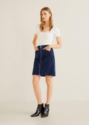 MANGO Leather miniskirt