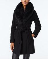 MICHAEL Michael Kors Fox-Fur-Trim Walker Coat