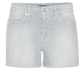 7 For All Mankind Striped Denim Shorts