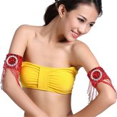 Pealiker Belly Dance Dance Sleeves Arm Cuff Chain With Sequin Bead