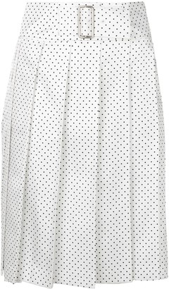 Comme des Garcons Pre-Owned polka dot pleated wrap skirt