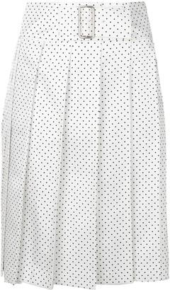 Comme Des Garçons Pre Owned Polka Dot Pleated Wrap Skirt
