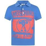 Moschino MoschinoBoys Blue Milano Print Polo Top