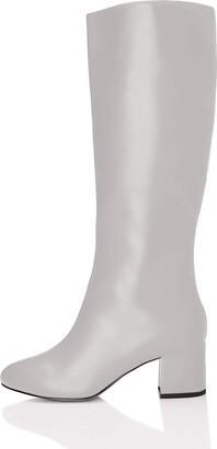 Find. Womens Boots Block Heel Classic Grey 7 UK (40 EU)