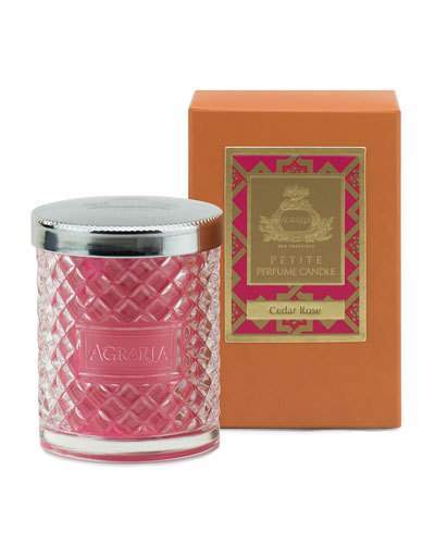 Agraria Cedar Rose Crystal Candle, 3.4 oz.