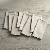 Crate & Barrel Set of 8 Fete Dove Grey Cloth Napkins