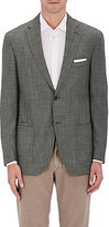 Luciano Barbera MEN'S HERRINGBONE WOOL-BLEND TWO-BUTTON SPORTCOAT