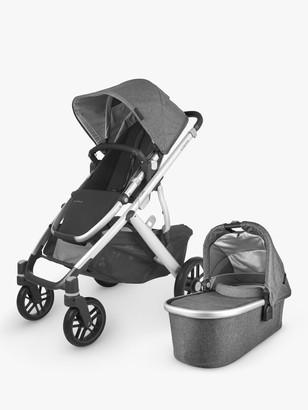 UPPAbaby Vista V2 Jordan Pushchair and Carrycot, Charcoal/Grey Melange