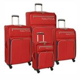Nautica Ashore 4-Piece Luggage Set in Red