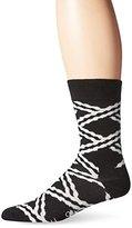 Happy Socks Men's 1pk Unisex Combed Cotton Crew-Black Chain