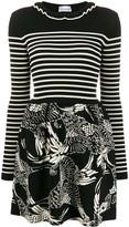 RED Valentino striped bird print dress