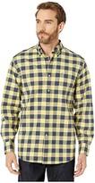 Southern Tide Spray Avenue Buffalo Check Sports Shirt (Sunshine) Men's Clothing