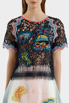 Peter Pilotto Embroidered Lace Top
