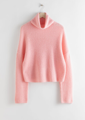 And other stories Slouchy Ribbed Knit Turtleneck