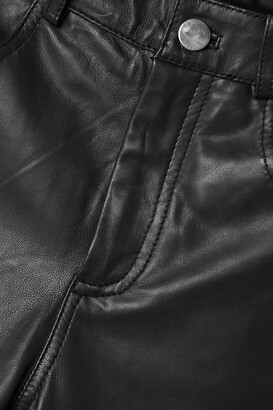 Deadwood + Net Sustain Phoenix Leather Straight-leg Pants - Black