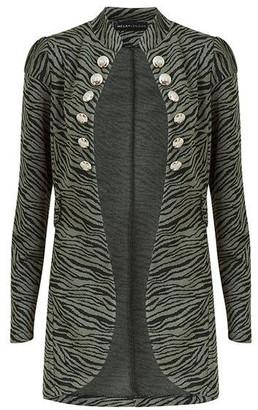 Mela London Khaki Zebra Button Jacket