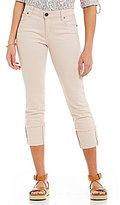 KUT from the Kloth Cameron Straight Leg Wide Roll-Cuff Capri Jeans