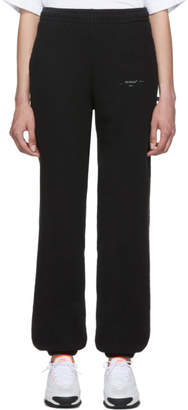 Off-White Black and Silver Unfinished Slim Lounge Pants