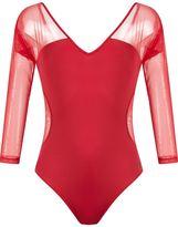 BRIGITTE sheer panels body - women - Polyamide/Spandex/Elastane - G
