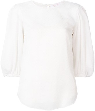 See by Chloe Point D'esprit Puff Sleeve Blouse