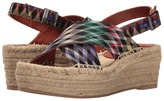 Missoni Printed Cross Band Flatform Women's Shoes