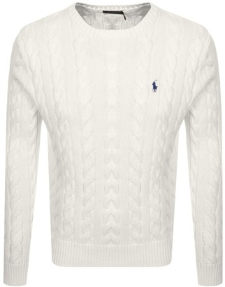 Ralph Lauren Driver Crew Neck Knit Jumper White