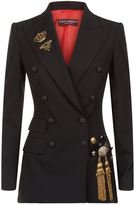 Dolce & Gabbana Bejewelled Patch Jacket