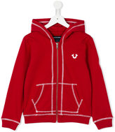 True Religion kangaroo pockets zipped hoodie - kids - Cotton - 6 yrs