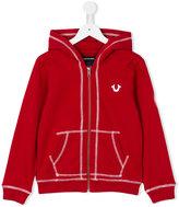 True Religion kangaroo pockets zipped hoodie