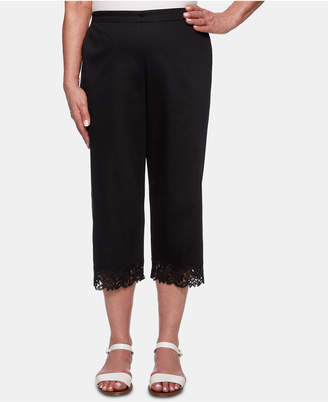 Alfred Dunner Petite Cayman Islands Lace-Cuff Cropped Pants