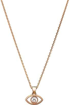 Chopard Rose Gold Happy Diamond Good Luck Charms Pendant