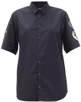 Raf Simons Sleeve-applique Cotton-poplin Shirt - Womens - Navy