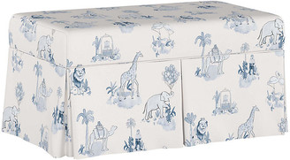 Gray Malin X Cloth & Company Toile Storage Bench - Blue