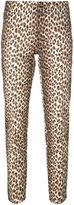 P.A.R.O.S.H. animal print slim fit trousers - women - Cotton/Spandex/Elastane - S