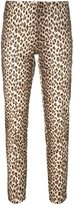 P.A.R.O.S.H. animal print slim fit trousers