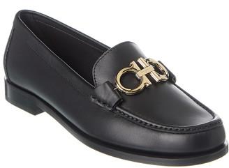 Salvatore Ferragamo Rolo Gancini Leather Loafer