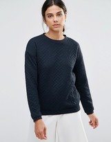 NATIVE YOUTH Textured Crew Neck Sweater