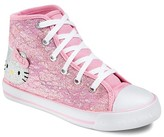Hello Kitty Toddler Girls' High Top Canvas Sneakers - Pink